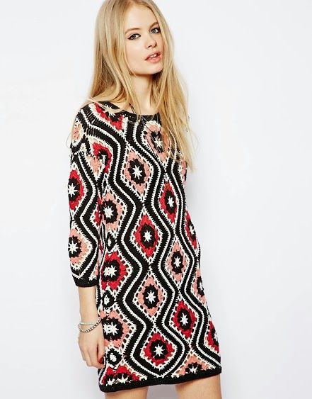 Outstanding #Crochet: Patchwork Crochet Dress from Asos.
