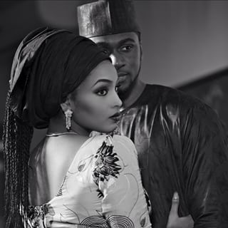Nigerian brides love a dramatic black and white photo. | 67 Nigerian Brides Just Killing The Wedding Game Right Now