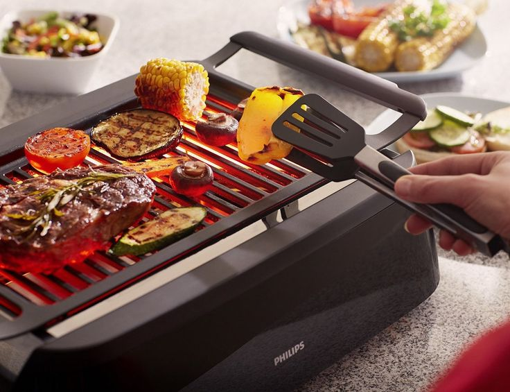Get that great barbecue taste no matter the weather with the Philips Indoor Grill.