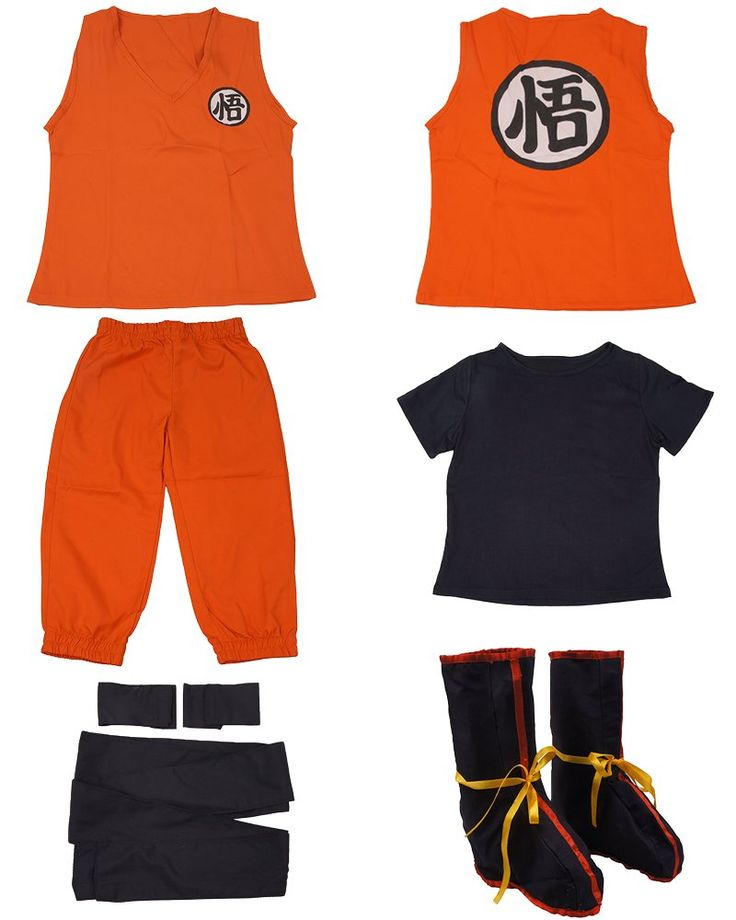 Dragon Ball Son Goku Kids Cosplay Costume (S)