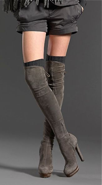 Gucci suede over the knee boots.  Pinned by #PinkPad, the women's health app. pinkp.ad