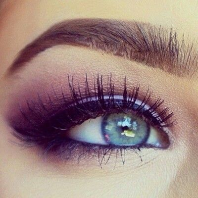 I love a smokey purple eye with beautiful blue and hazel eyes-Meghan