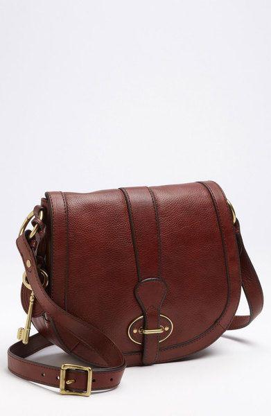 Fossil Vintage Reissue Flap Crossbody Bag in Brown (russet brown) - Lyst