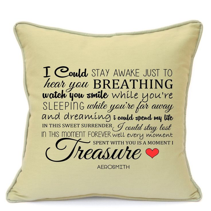 Presents Gifts For Him Her Husband Wife Girlfriend Boyfriend Wedding Anniversary Valentines Day First Dance Song New Couples Dance Aerosmith Dont Wanna Miss A Thing Cushion With Inner 18 Inch 45 Cm  Available on: https://www.amazon.co.uk/dp/B06XRGQBV7  #Songs #Music #Love #Gifts #Handmade #Vintage #GiftIdeas #Personalised #ImransGiftShop