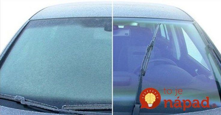 Nestrácajte ráno čas zoškrabávaním ľadu z vášho auta. Naučte sa tieto jednoduché triky!