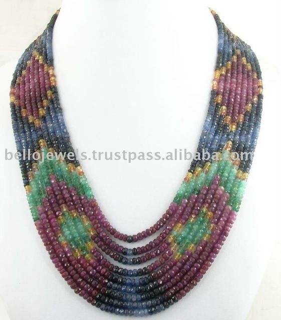 Source Designer ruby emerald sapphire Necklace Calgary on m.alibaba.com
