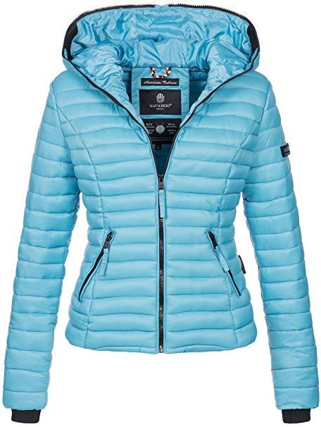 29f8eaab0b38 Navahoo Damen Übergangs Stepp Jacke mit Kapuze B348 (XS, Baby Blue) - Winter  Outfits Frauen Schnee Mode wintermode kalt kaufen…