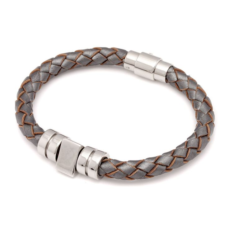 Spike leather bracelet, grey 29,50€ http://www.taika-korut.fi/product/152/spike-rannekoru-metallinharmaa