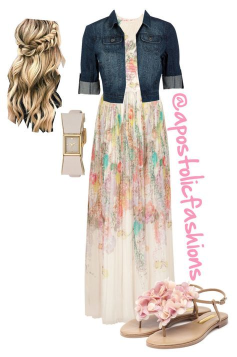 """Apostolic Fashions #1760"" by apostolicfashions on Polyvore featuring Ted Baker, Rupert Sanderson and Kate Spade"