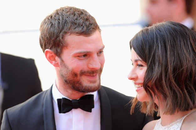 Then there's Jamie Dornan, who struggles to take his eyes off Amelia Warner.
