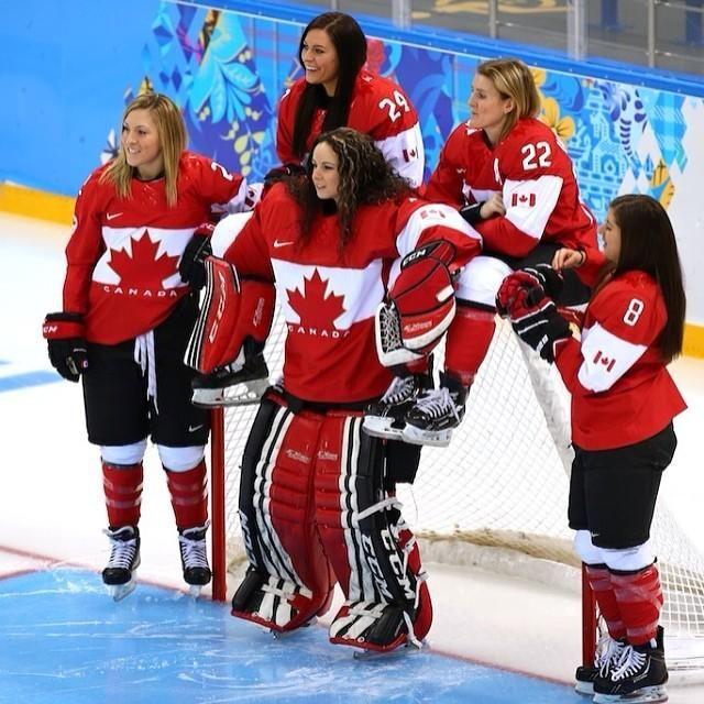 Canadian Women Hockey Team in Sochi 2014