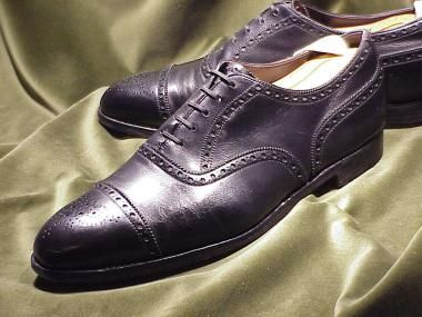 Урожай ЭДВАРД ГРИН для WILDSMITH, Кап-Toe Оксфорд акцентом: 44.5D | Классические ботинки для мужчин