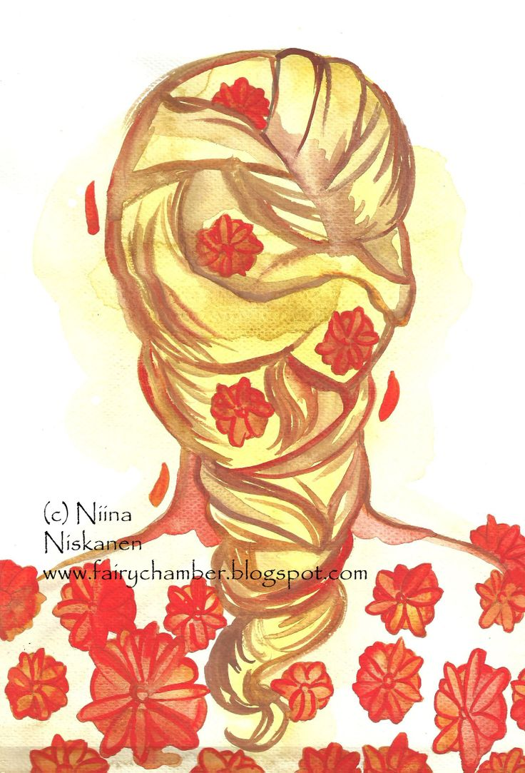 """""""Marigold hair"""" (c) Niina Niskanen Aquarell painting"""
