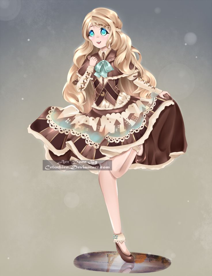 I gotta admit that when I first decided to draw this character I had no idea I was going to be able to pull it off LOL But I'm kinda proud of the result! #animegirl #blueeyes #brownhair #cute #dress #oldfashioned