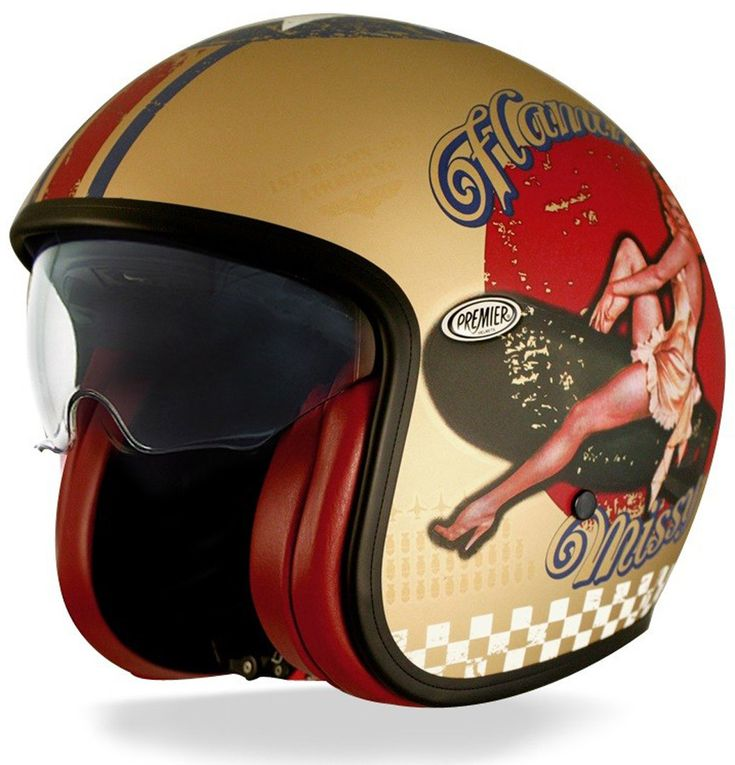 Premier Vintage Pin Up Motorcycle Helmets & Accessories Jet Gold,Premier Closeout Sale Clothes, Helmets & Boots - Up To 70% Off On USA Outlet