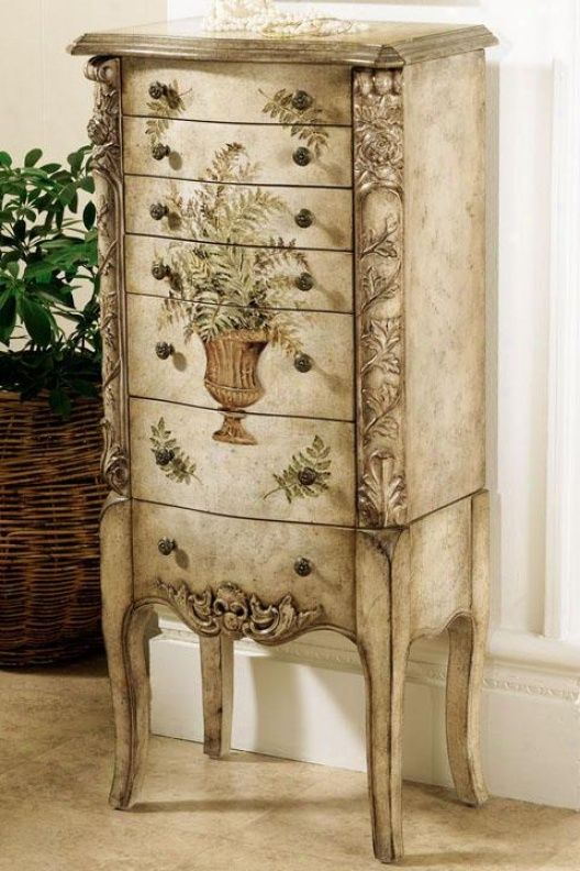 Painted armoire beauties jewelry armoires pinterest for Armoires lingeres