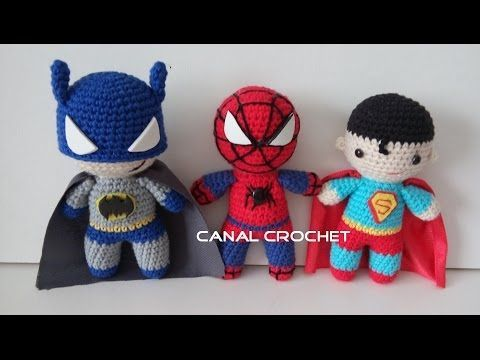 Aprende a tejer amigurumis Super Héroes / Tutorial DIY | Crochet y Dos agujas