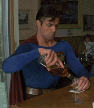 This is the best drunk superman ever!