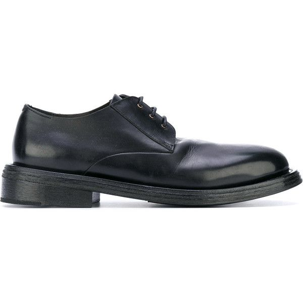Marsèll Round Toe Derby Shoes ($802) ❤ liked on Polyvore featuring men's fashion, men's shoes, mens round toe shoes, mens derby shoes and marsell mens shoes