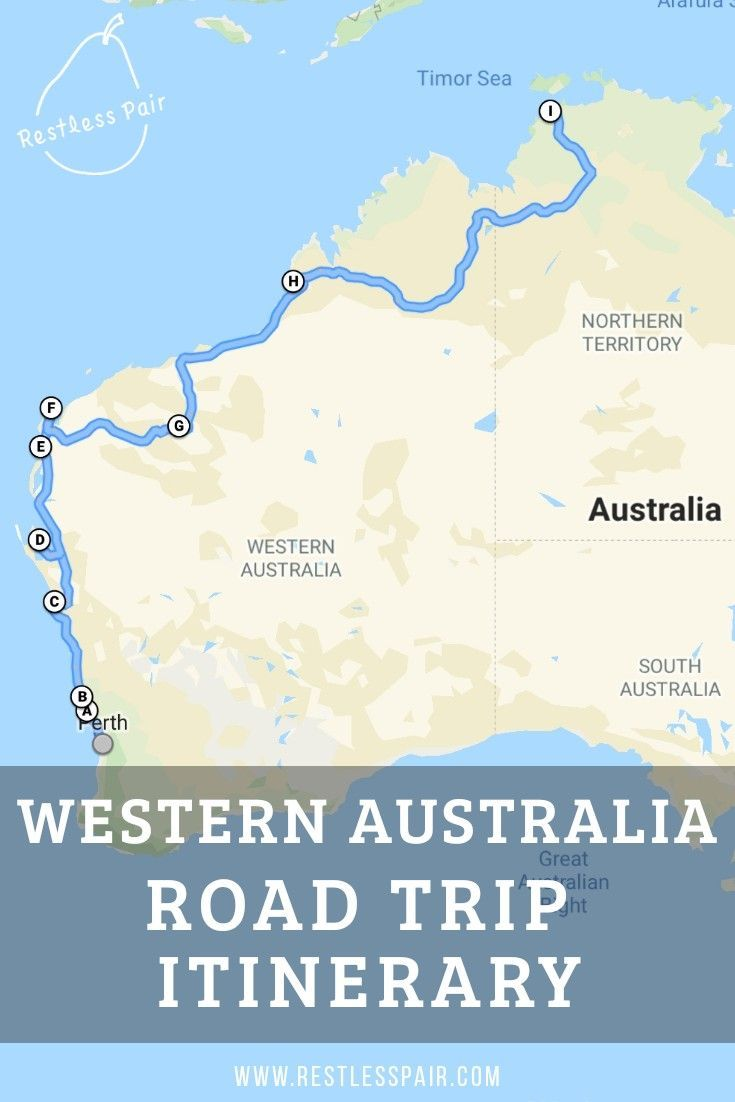 Australia West Coast Map.All The Highlights Between Perth And Darwin Travel Blogs To
