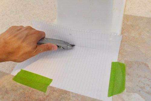 When laying the sticky tiles,use some stiff paper to make a template for those tougher areas that have curves, pipes or extra corners. Then take your utility knife and trace it out onto your tile and Bazinga. Perfect results...just add some silicone to finish it off.......D.