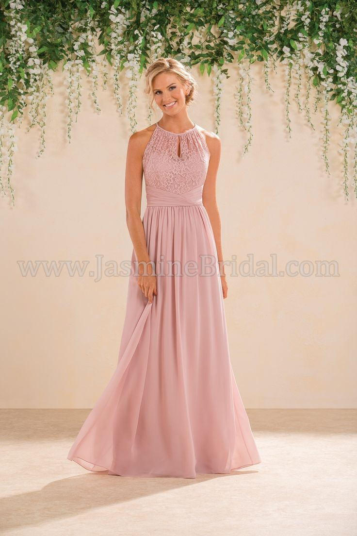 Jasmine Bridal Bridesmaid Dress B2 Style B183016 in Misty Pink //