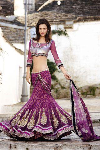 violet Lengha  #indianwedding, #southasianwedding, #shaadibazaar