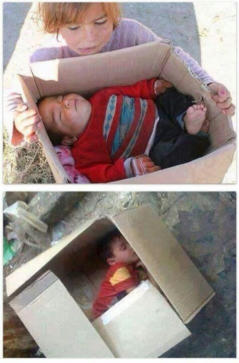 Meanwhile in Syria .........Dear God, my cat has a better bed than this. When will we stop this ?