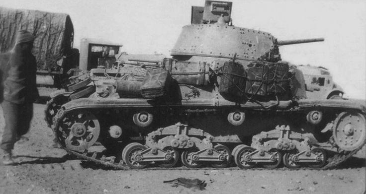 """Tank M13 / 40,131 th Italian Panzer Division """"Chentauro 'in Tunisia"""