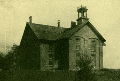 Burr Oak, Iowa, schoolhouse where Mary & Laura attended school.