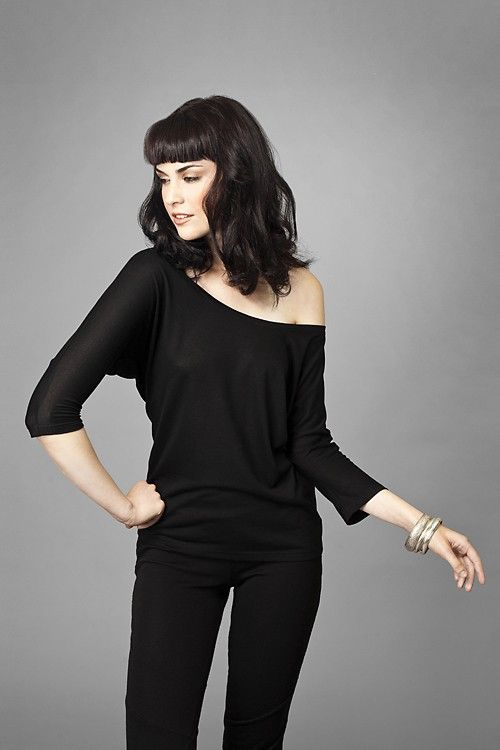 kaliclothing - Womens Eco friendly Scoop Neck Batwing Lyocell Top