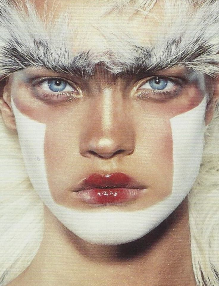 Natalia Vodianova by Steven Klein for i-D magazine, May 2002
