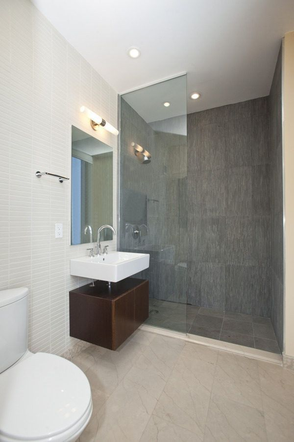 Really Big Tile Seems Current Too Trendy Done W No Grout Lines Don T Want Glass To Ceiling And T Master Bathroom Decor Bathrooms Remodel Bathroom Design