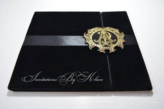 Velvet Wedding Invitations: Velvet Wedding Invitation Folio, Velvet Invitation Folio