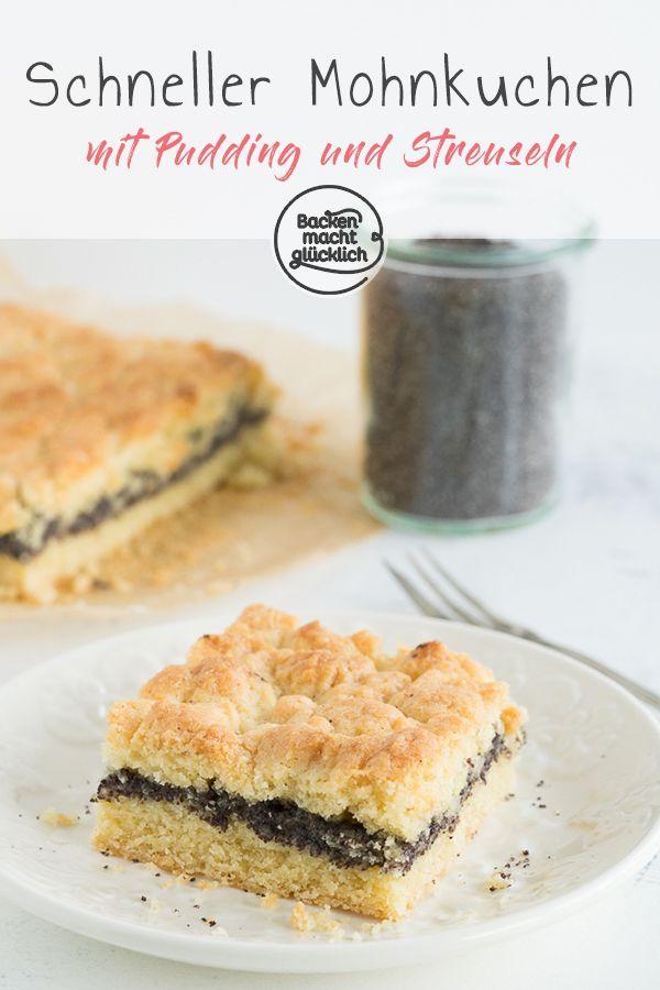 Mohn Streuselkuchen Mit Pudding Rezept Mohnkuchen Mit Streusel Mohnkuchen Mit Pudding Und Schneller Mohnkuchen