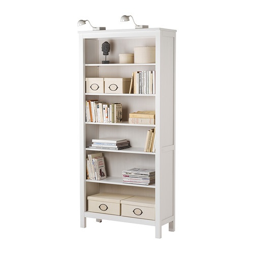 HEMNES Bookcase IKEA Solid Wood Gives A Natural Feel 4 Adjustable Shelves 1 Stationary Shelf For High Stability