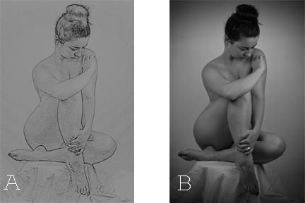 Fine art photography nude black and white