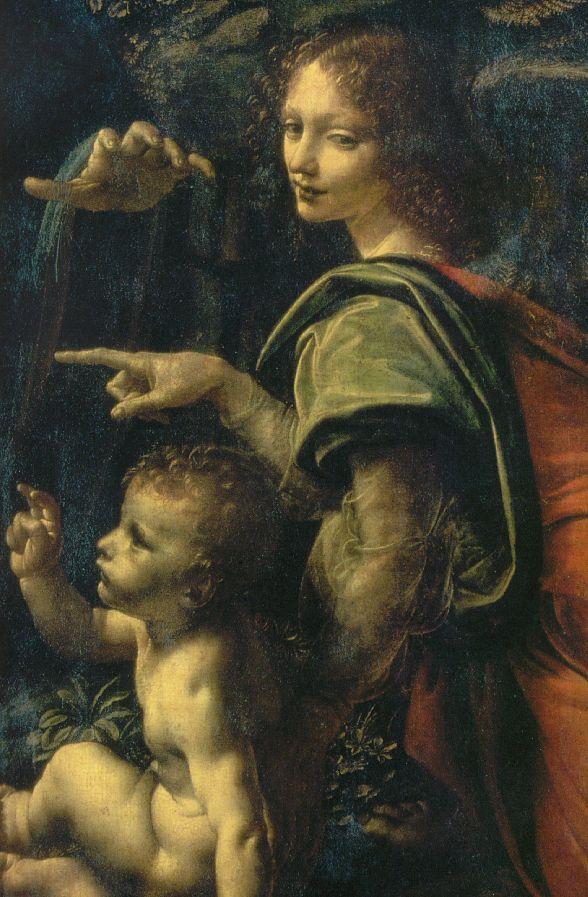 Leonardo da Vinci ~ The Virgin of the Rocks (detail), c.1483-86