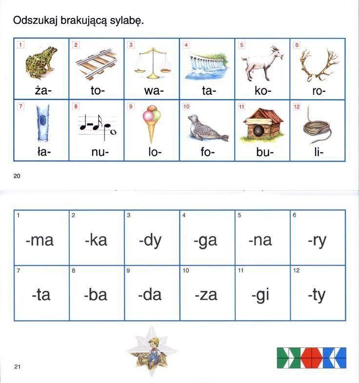 do bajki 4  Zabawy i ćwiczenia sylabowe do nauki czytania i pisania
