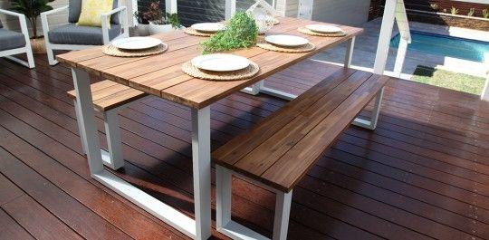 Fine Richmond 3 Piece Table And Bench Setting White Table Creativecarmelina Interior Chair Design Creativecarmelinacom