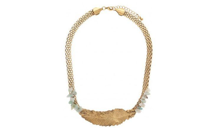 Gold Leaf Necklace PARFOIS| Handbags and accessories online