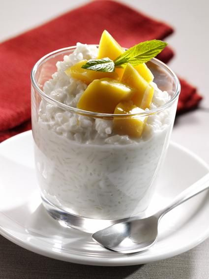 Coconut Rice with Mango Recipe  I LOVE this recipe!!! It's really good!  - Rachel