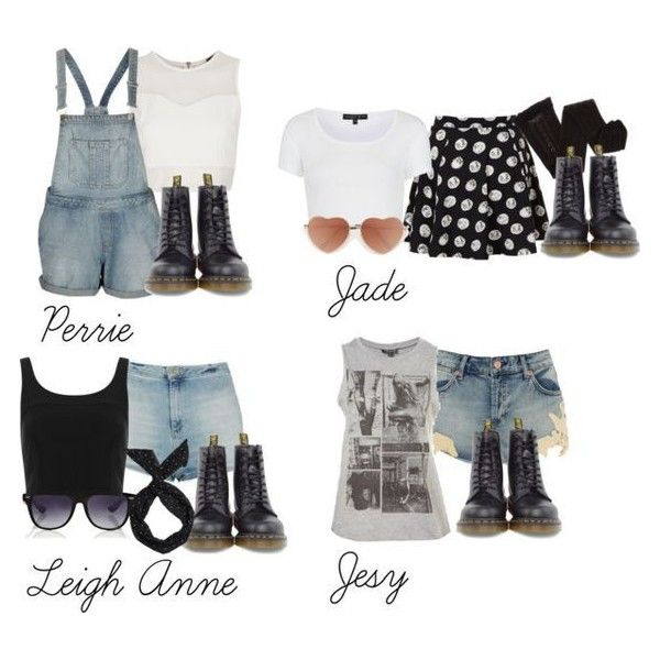 Little Mix inspired outfits with doc martens ❤ liked on Polyvore featuring tops, white cotton tops, sleeveless white t shirts, crop top, white top and white shirt