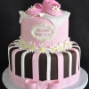 daisy baby shower cake