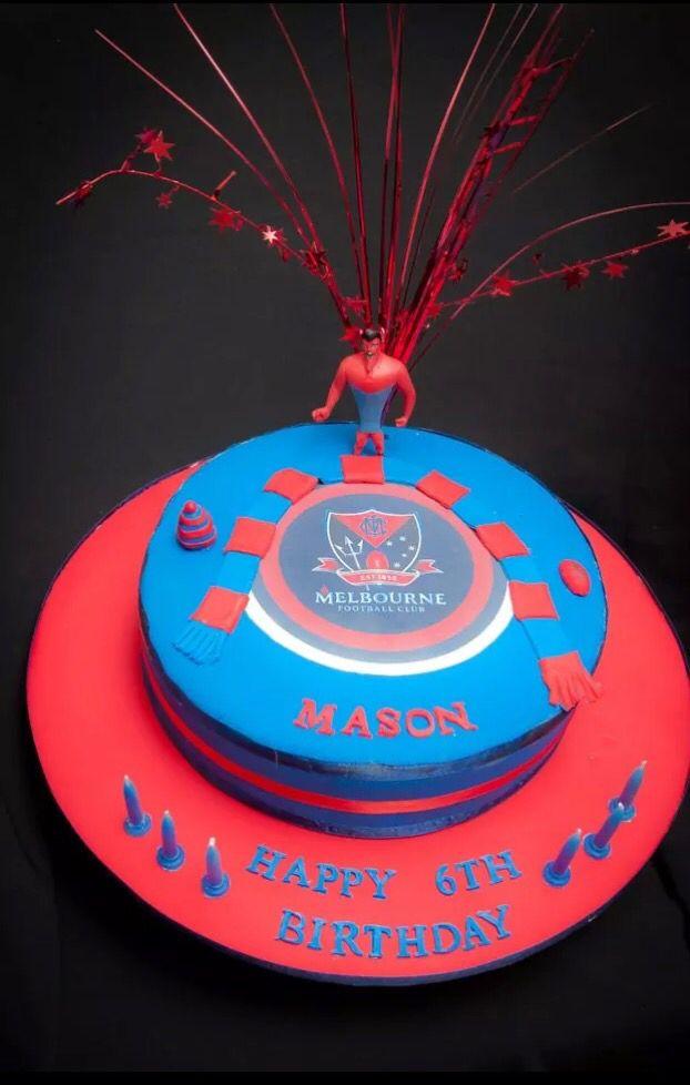 Melbourne Demons AFL Birthday Cake