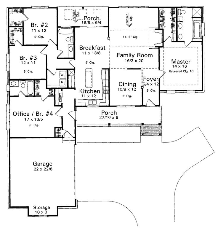 24 best images about floor plan ideas on pinterest house for Split bedroom floor plans