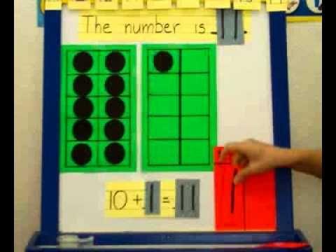 ▶ Beginning Place Value Kindergarten - YouTube -- 10 frame, with number sentence