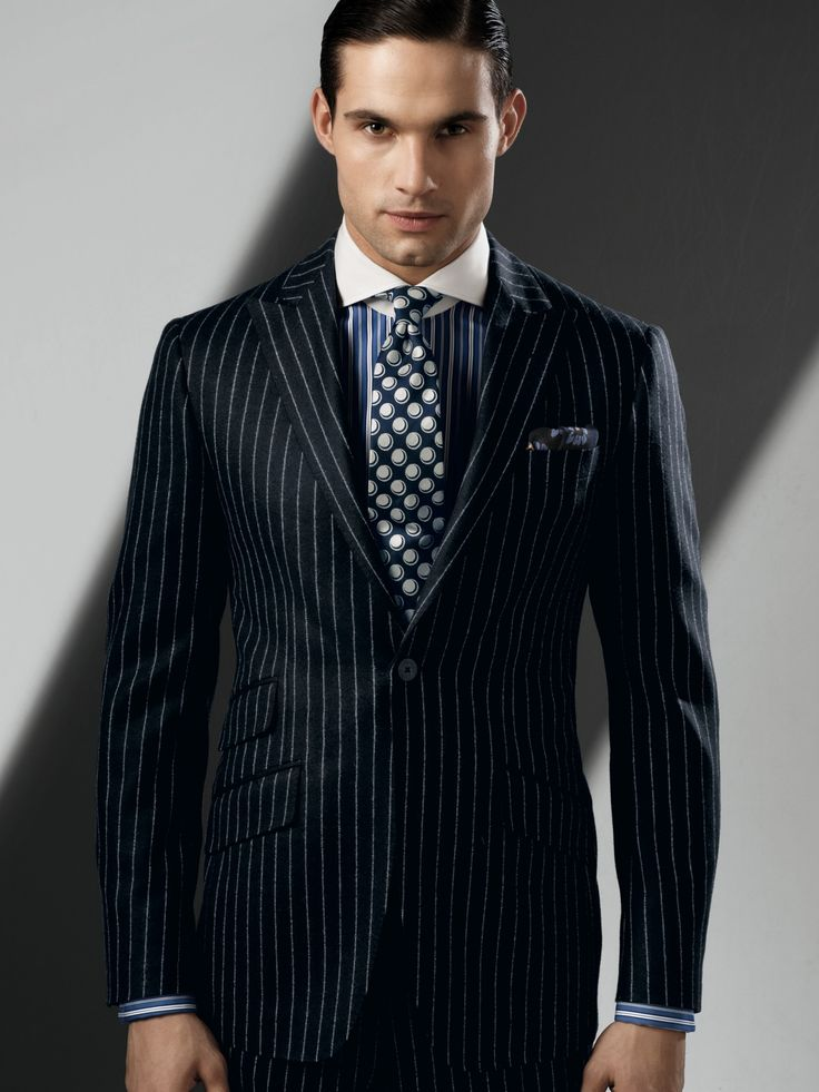 Can Mens style with pin striped suits
