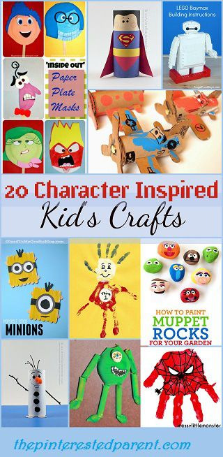20 Character Inspired Kid S Crafts Inspired By Disney