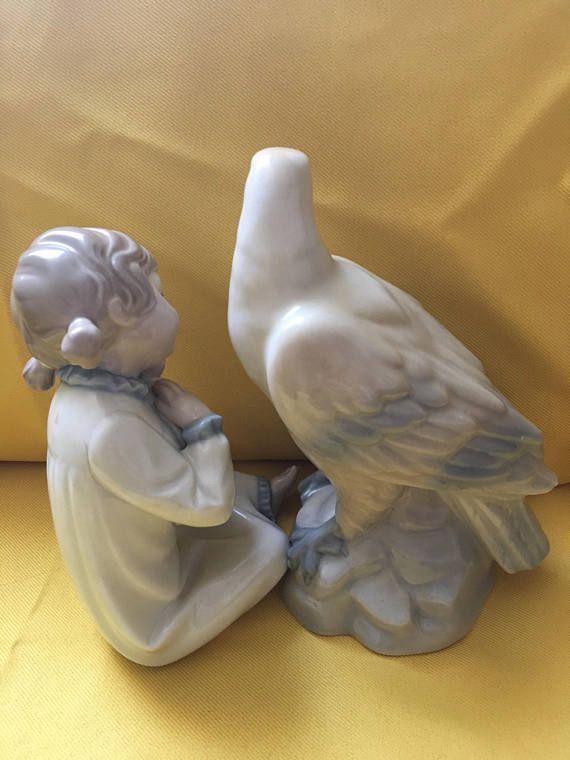 Lladro Zaphir Figurine x Vintage Porcelain pigeon MIQUEL